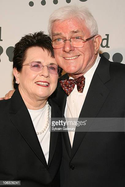 Billie Jean King and Phil Donahue during 18th Annual GLAAD Media Awards New York Red Carpet at Marriott Marquis at 1535 Broadway at 45th Street in...