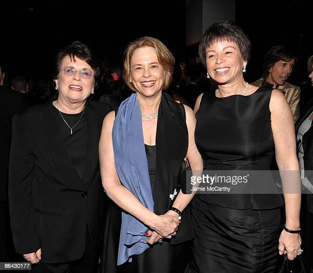 Billie Jean King Ann Moore and Valerie Jarrett Senior Advisor to US President Barack Obama attend Time's 100 Most Influential People in the World...