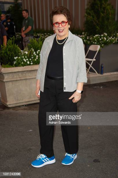 Billie Jean King attend Day 9 of the US Open held at the USTA Tennis Center on September 4, 2018 in New York City.