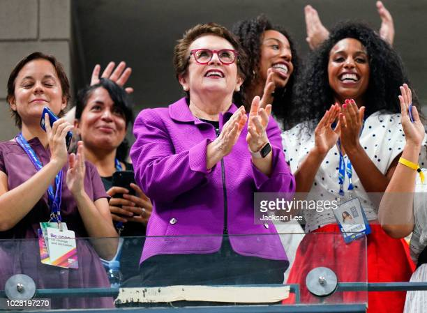 Billie Jean King attends Day 11 of the 2018 US Open on September 6, 2018 in New York City.