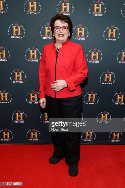 Billie Jean King attends HISTORYTalks Leadership Legacy presented by HISTORY at Carnegie Hall on February 29 2020 in New York City