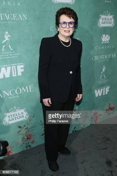 Billie Jean King attends the 11th annual celebration of the 2018 Female Oscar nominees presented by Women in Film at Crustacean on March 2 2018 in...