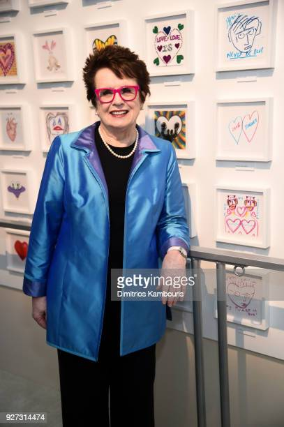 Billie Jean King attends the 26th annual Elton John AIDS Foundation Academy Awards Viewing Party sponsored by Bulgari celebrating EJAF and the 90th...