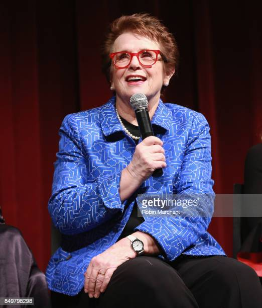 Billie Jean King attends The Academy of Motion Picture Arts Sciences Hosts an Official Academy Screening of THE BATTLE OF THE SEXES at MOMA on...