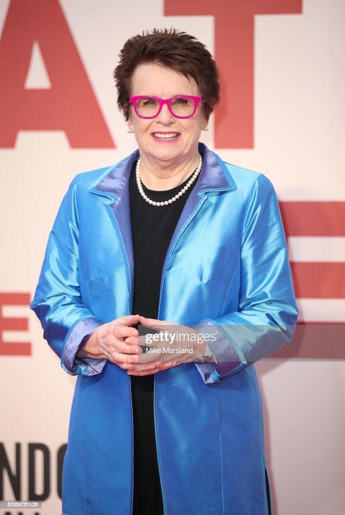 Billie Jean King attends the American Express Gala & European Premiere of 'Battle of the Sexes' during the 61st BFI London Film Festival on October 7, 2017 in London, England.