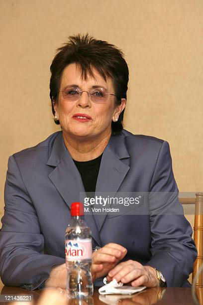 Billie Jean King during The United States Tennis Association and the City of New York Announce the Renaming of Arthur Ashe Stadium to Billie Jean...