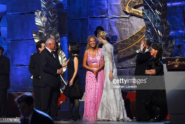 Billie Jean King Mikhail Gorbachev Lucy Liu Stella Deetjen Claudia Schiffer Shana Dale and Miky Lee