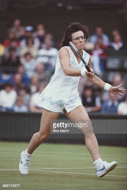 Billie Jean King of the United States during the Women's Singles SemiFinal match against Chris EvertLloyd at the Wimbledon Lawn Tennis Championship...