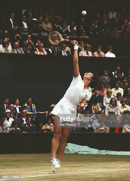 Billie Jean King of the United States during the Women's Singles Quarter Final match against Tracy Austin at the Wimbledon Lawn Tennis Championship...
