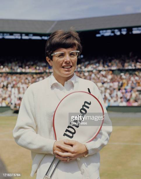 Billie Jean King of the United States poses for a photograph before her Women's Singles Final match against Judy Tegart Dalton of Australia at the...