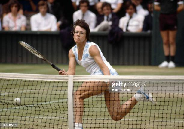 Billie Jean King of the USA during the Ladies Singles SemiFinal at the Wimbledon Lawn Tennis Championships held in London England during July 1982