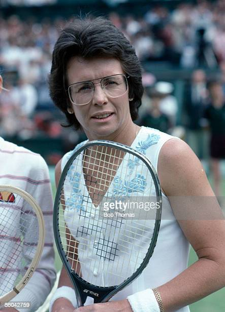 Billie Jean King of the USA during the Wimbledon Lawn Tennis Championships held in London England during July 1982
