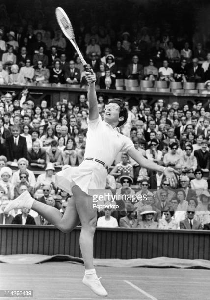 Billie Jean King of the USA in action at Wimbledon on 26th June 1969