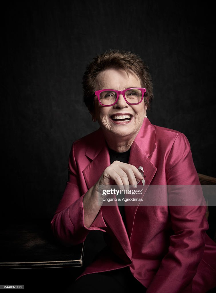 Billie Jean King poses for a portrait at Logo's 'Trailblazer Honors' on June 23, 2016, in the Cathedral of St. John the Divine in New York City.