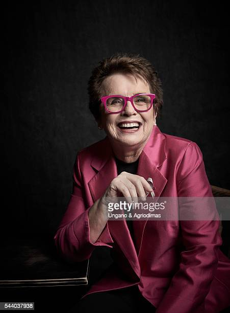 Billie Jean King poses for a portrait at Logo's Trailblazer Honors on June 23 in the Cathedral of St John the Divine in New York City