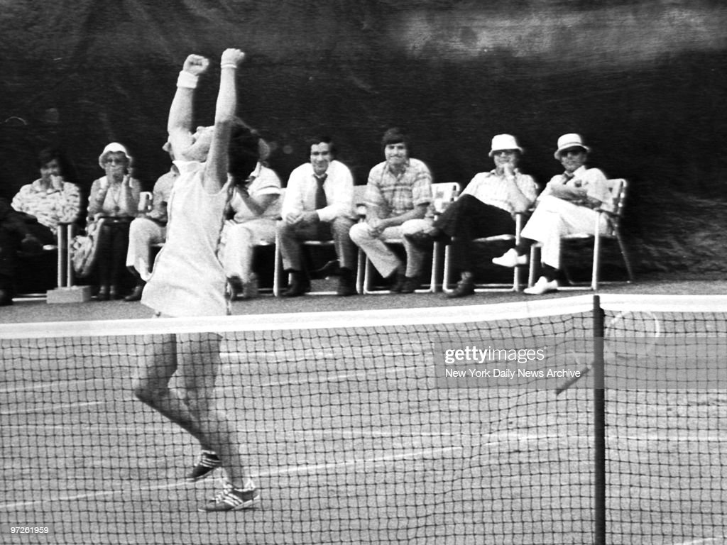 Billie Jean King shouts ecstatically after she defeated Evonne Goolagong, 2-6, 6-3, 7-5, to capture the U.S. Open tennis title at Forest Hills.