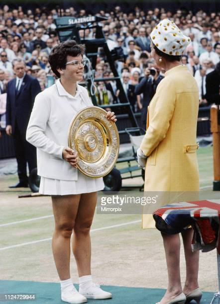 Billie Jean King successfully defended her title defeating Ann Jones in the final 63 64 to win the Ladies' Singles tennis title at the 1967 Wimbledon...