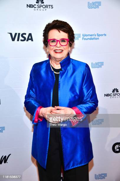 Billie Jean King tennis attends The Women in Sports Foundation 40th Annual Salute to Women in Sports Awards Gala celebrating the most accomplished...