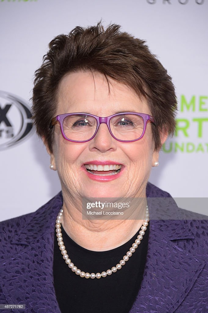 Billie Jean King, Tennis player, Founder and Honorary Chair, 2009 Recipient of the Presidential Medal of Freedom attends the Women's Sports Foundation's 35th Annual Salute to Women In Sports awards, a celebration and a fundraiser to ensure more girls and women have access to sports, at Cipriani Wall Street on October 15, 2014 in New York City.