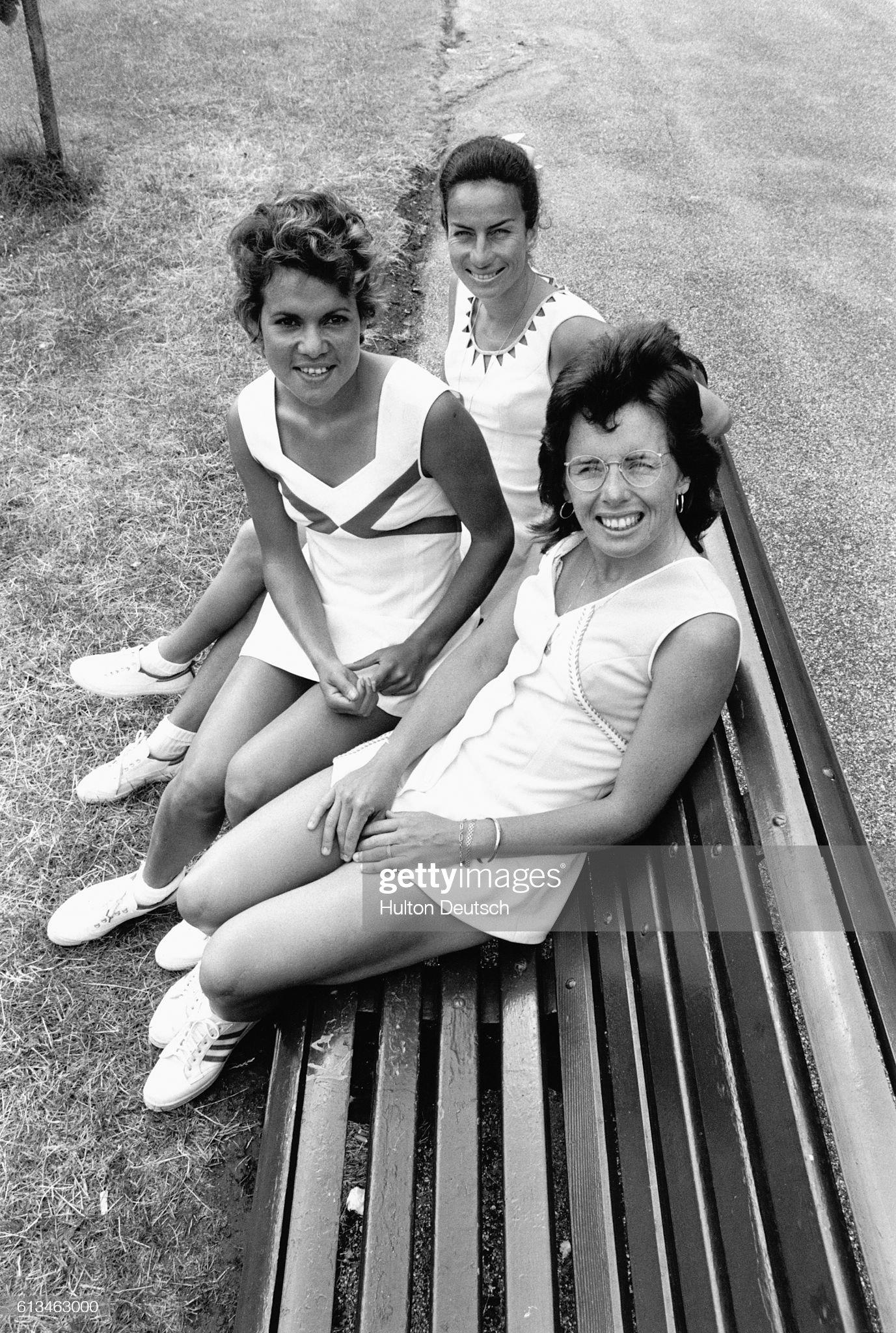 Three Lady Tennis Stars : News Photo