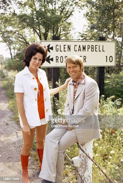 Billie Jean Nunley and Glen Campbell visit the villageborough of Glen Campbell PA on July 30 1971