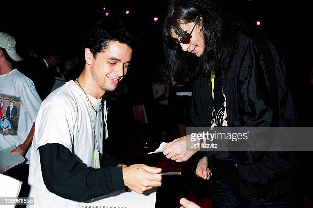 Billie Joe Armstrong and Joey Ramone during 1994 MTV Video Music Awards at Radio City Music Hall in New York City New York United States