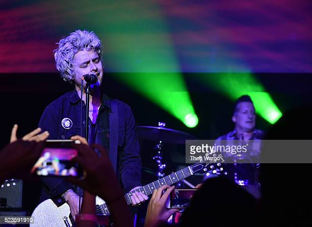 Billie Joe Armstrong and Tre Cool perform at Geezer Premiere 2016 Tribeca Film Festival at Spring Studios on April 23 2016 in New York City