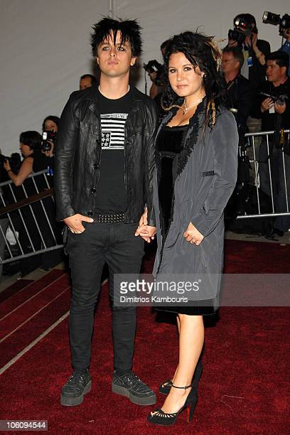 Billie Joe Armstrong and wife Adrienne Armstrong during 'AngloMania' Costume Institute Gala at The Metropolitan Museum of Art Arrivals Celebrating...