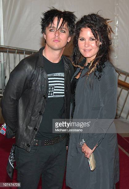 Billie Joe Armstrong and wife Adrienne Armstrong during 'AngloMania' Costume Institute Gala at The Metropolitan Museum of Art Departures Celebrating...