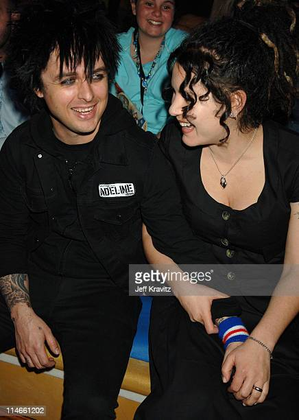 Billie Joe Armstrong of Green Day and wife Adrienne Armstrong