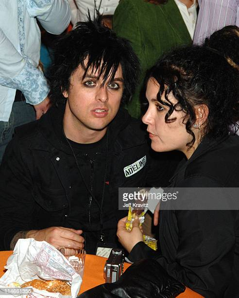 Billie Joe Armstrong of Green Day and wife Adrienne Armstrong **exclusive coverage**