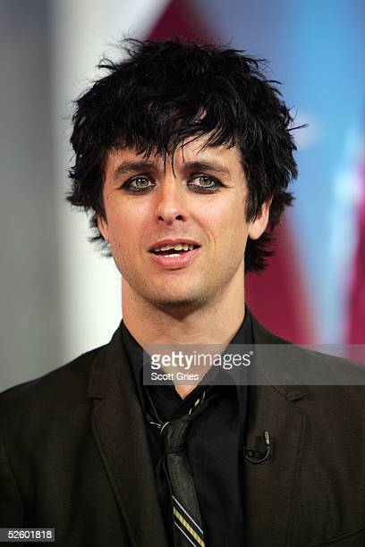 Billie Joe Armstrong of Green Day appears on stage during MTV's Total Request Live at the MTV Times Square Studios April 7 2005 in New York City