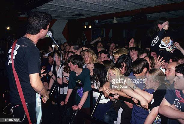 Billie Joe Armstrong of Green Day during Green Day in Concert at The Garage in Islington April 1 1994 at The Garage in Islington in London United...