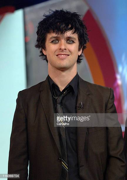 Billie Joe Armstrong of Green Day during Green Day Visits MTV's TRL April 7 2005 at MTV Studios in New York City New York United States