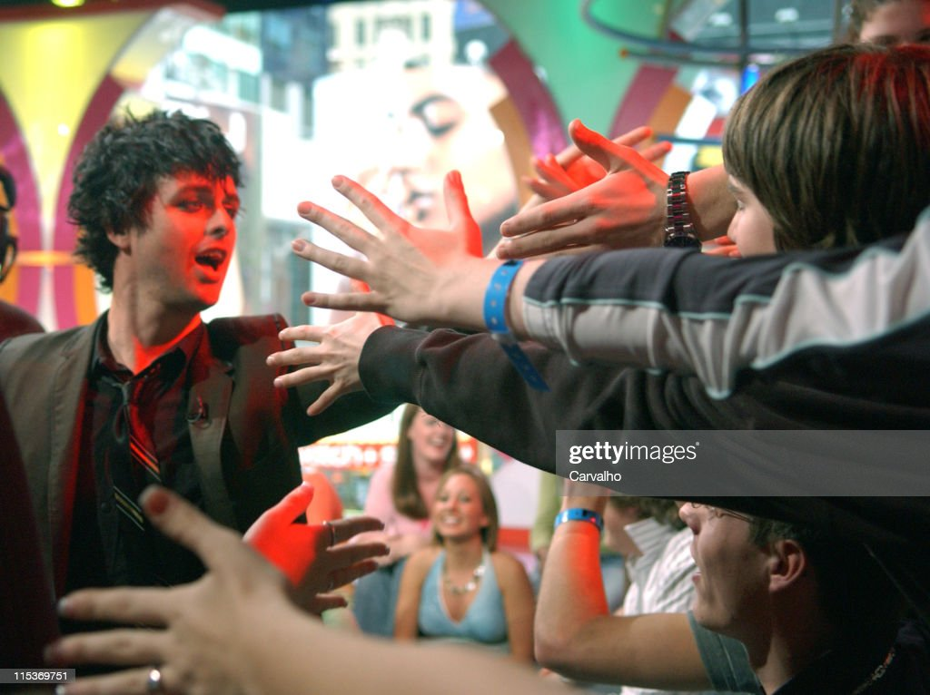 Billie Joe Armstrong of Green Day during Green Day Visits MTV's 'TRL' - April 7, 2005 at MTV Studios in New York City, New York, United States.