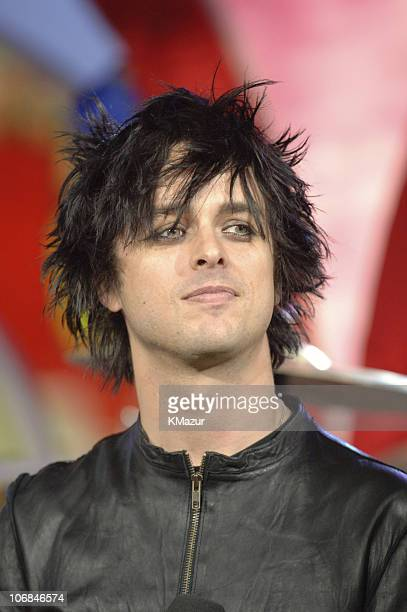 Billie Joe Armstrong of Green Day during MTV's 'TRL' Spankin' New Music Week with Green Day and Nicole Richie November 10 2005 at TRl Studios in New...