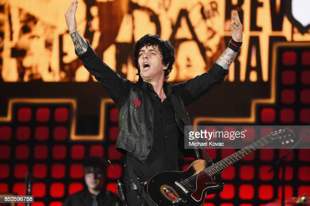 Billie Joe Armstrong of Green Day perform onstage during Global Citizen Festival 2017 at Central Park on September 23 2017 in New York City