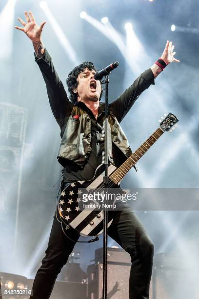Billie Joe Armstrong of Green Day performs at Rose Bowl on September 16 2017 in Pasadena California