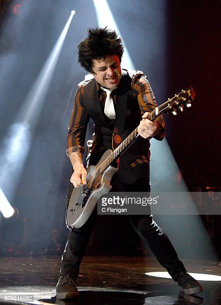 Billie Joe Armstrong of Green Day performs during the 2016 KROQ Almost Acoustic Christmas at The Forum on December 11 2016 in Inglewood California