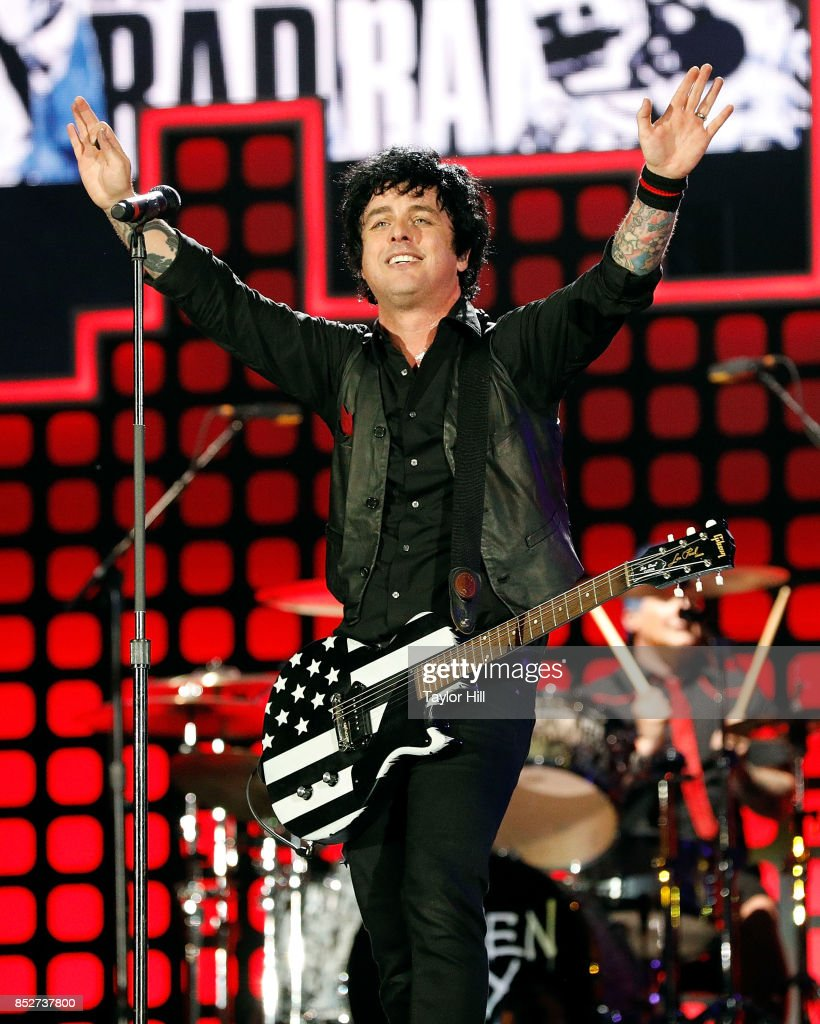 Billie Joe Armstrong of Green Day performs during the 2017 Global Citizen Festival at The Great Lawn of Central Park on September 23, 2017 in New York City.