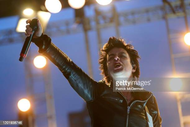 Billie Joe Armstrong of Green Day performs during the 2020 NHL AllStar Game weekend at the Enterprise Center on January 25 2020 in St Louis Missouri