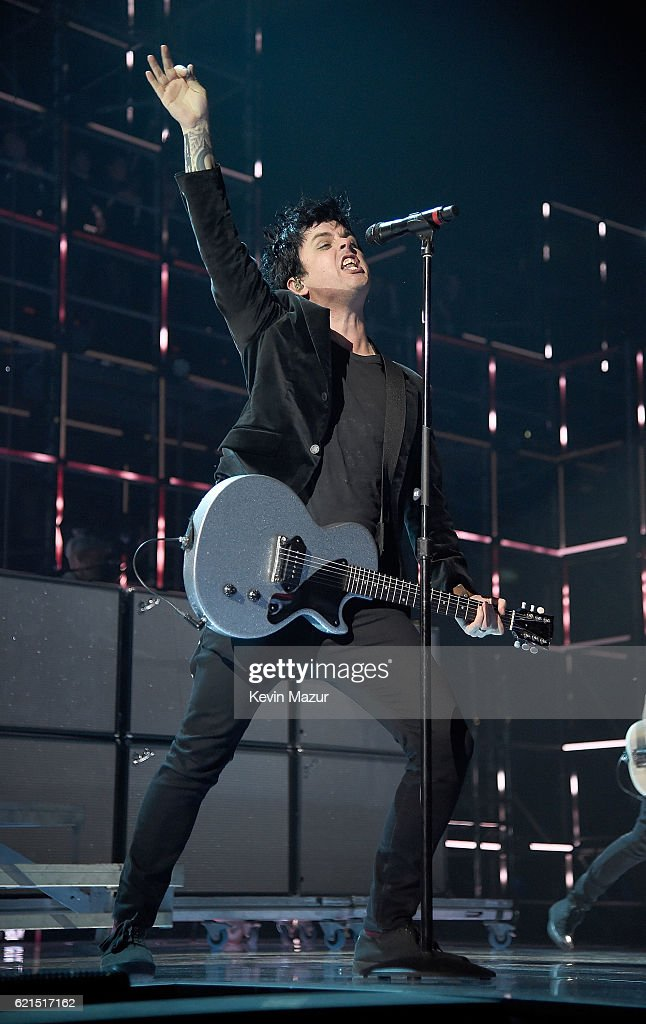 Billie Joe Armstrong of Green Day performs on stage at the MTV Europe Music Awards 2016 on November 6, 2016 in Rotterdam, Netherlands.
