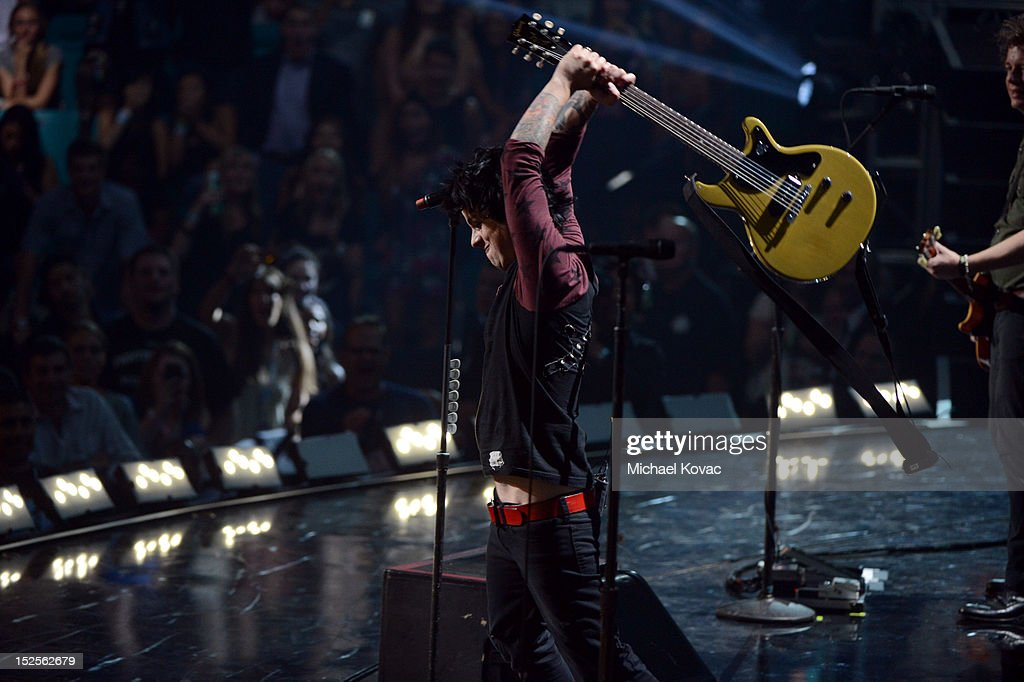 Billie Joe Armstrong of Green Day performs onstage during the 2012 iHeartRadio Music Festival at the MGM Grand Garden Arena on September 21, 2012 in Las Vegas, Nevada.