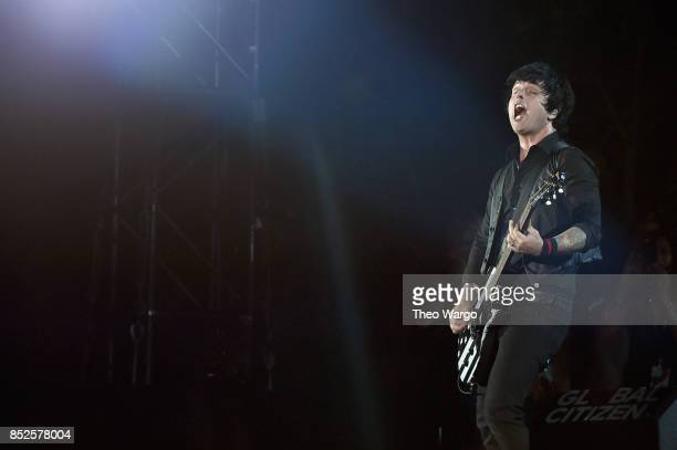 Billie Joe Armstrong of Green Day performs onstage during the 2017 Global Citizen Festival For Freedom For Justice For All in Central Park on...