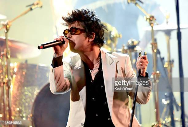 Billie Joe Armstrong of Green Day performs onstage during the 2019 American Music Awards at Microsoft Theater on November 24 2019 in Los Angeles...