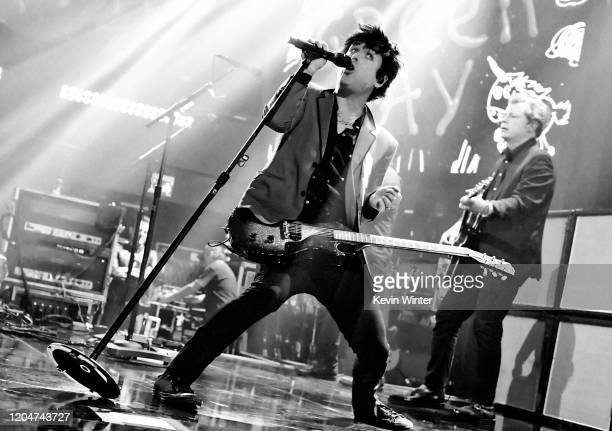 Billie Joe Armstrong of Green Day performs onstage during the iHeartRadio Album Release Party at iHeartRadio Theater on February 07 2020 in Burbank...
