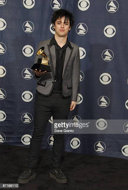 Billie Joe Armstrong of Green Day winner of Record Of The Year for Boulevard Of Broken Dreams