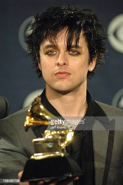 Billie Joe Armstrong of Green Day winner Record Of The Year for Boulevard Of Broken Dreams