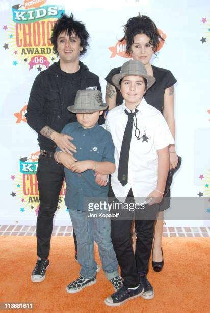 Billie Joe Armstrong of Green Day with wife Adrienne Armstrong and sons Jakob and Joseph