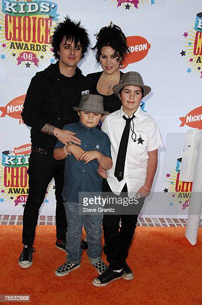 Billie Joe Armstrong Of Green Day With Wife Adrienne And Sons Jakob Joseph At